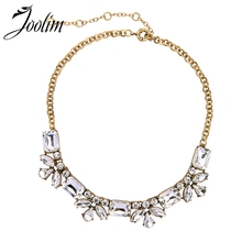 JOOLIM Endless Chic Clear Flower Collar Necklace Jewelry Wholesale