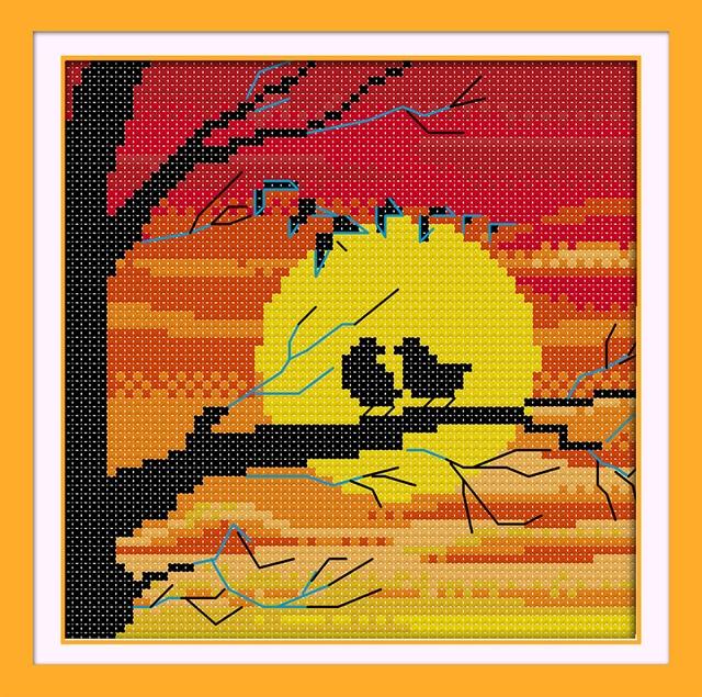 Установка Защита от солнца птицы тень вышивки крестом пейзаж Вышивка Крестом  Картины Домашний Декор животных крестом e41b8b7d91292