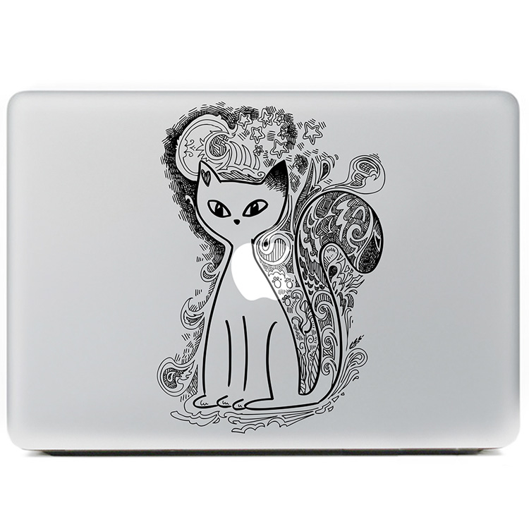 Totem Tattoo cat Vinyl Decal Sticker for DIY Macbook Pro / Air 11 13 15 Inch Laptop Case Cover Sticker