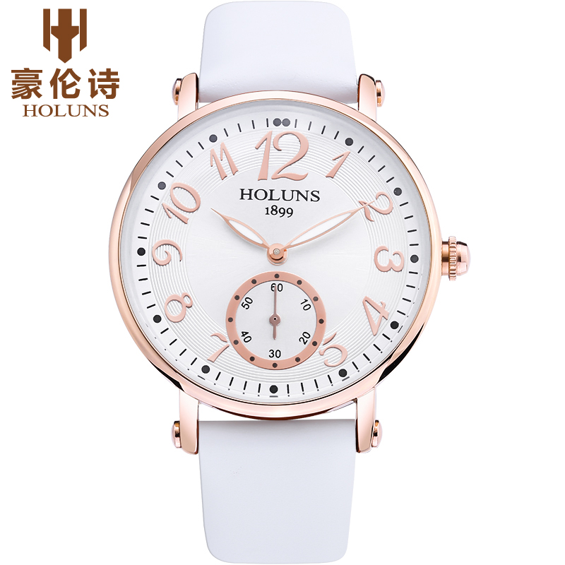 Holuns Ladies Simple Small Round Dial Rose Gold Womens geneva Watches 2017 Top Brand Casual Quartz Watch Watches Women
