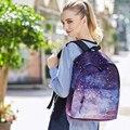 2017 Moda Céu Estrelado Via Láctea Impressão Meninas Sacos De Escola Para Adolescentes Mochila Grande Capacidade Mochilas Para Meninas Mochila
