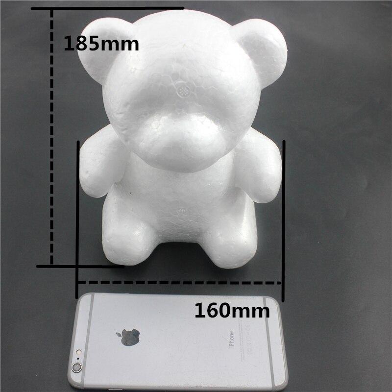 1 шт. 160 мм моделирование пенополистирол пенопласт пены белый медведь авторские шары для DIY для рождественской вечеринки украшения поставки подарки