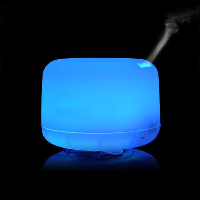 Diffuseur d'arome d'huile essentielle de ménage de 500 ML humidificateur ultrasonique de fabricant de brume de plus grande capacité avec la veilleuse de LED de 7 couleurs