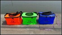 Fish Bucket EVA Fishing pail Folding Tank Water Box hengelsport viskist Outdoors Portable Fishing Accessories