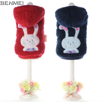 BENMEI Fleece Winter Clothes For Small Big Dog Warm Coat Jacket Clothes For Dogs Rabbit Pattern