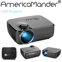 """Nuevo 1200 lúmenes HD 150 """"LED Multimedia Mini proyector del Teatro Casero LCD Juego Proyector AV/VGA/SD/USB/HDMI Envío Libre para Rusia Brasil"""