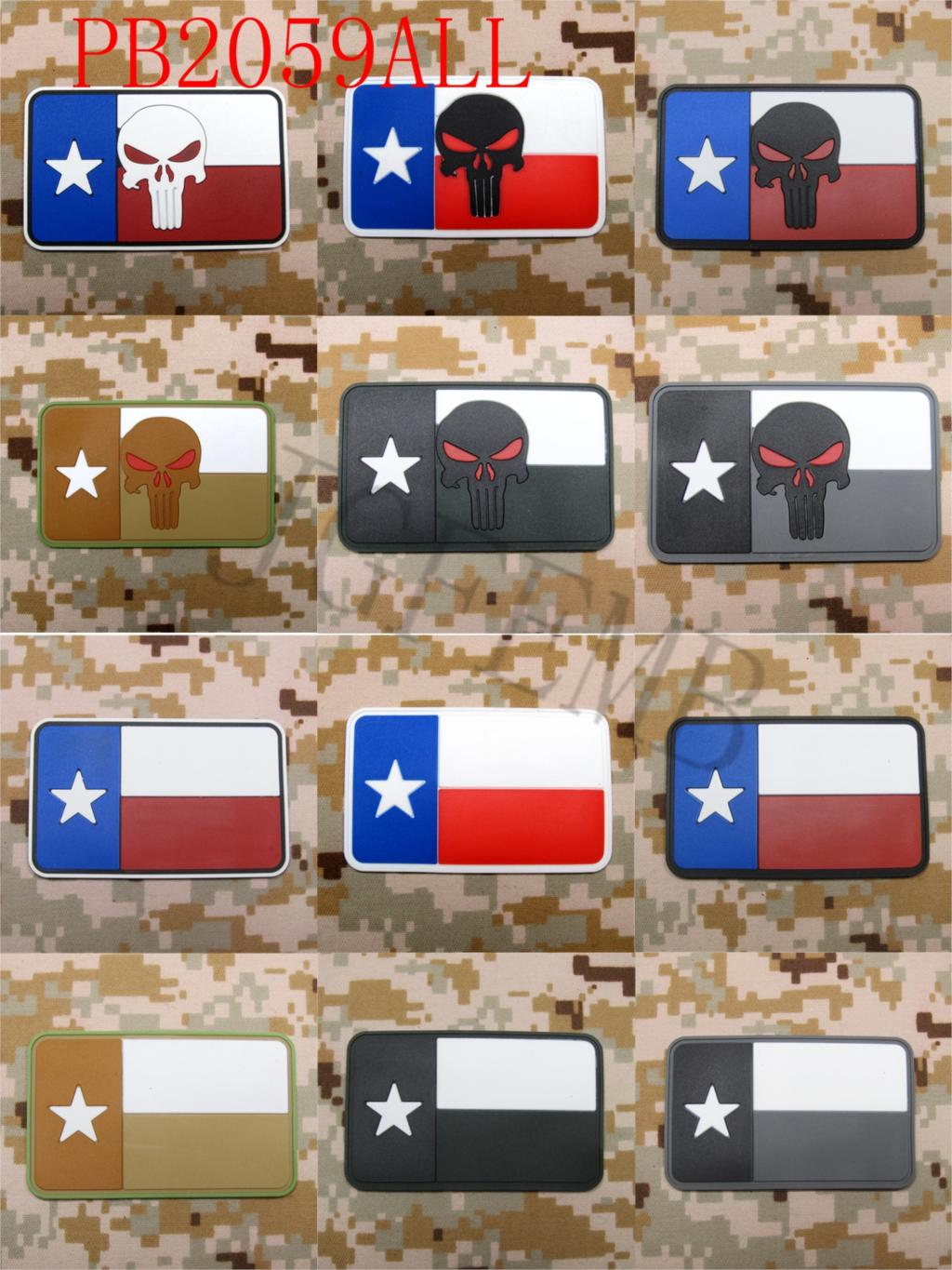 STATE OF TEXAS FLAG SEAL TEAM Operation Red Wings Lone Survivor punisher Tactical morale Military 3D PVC patch