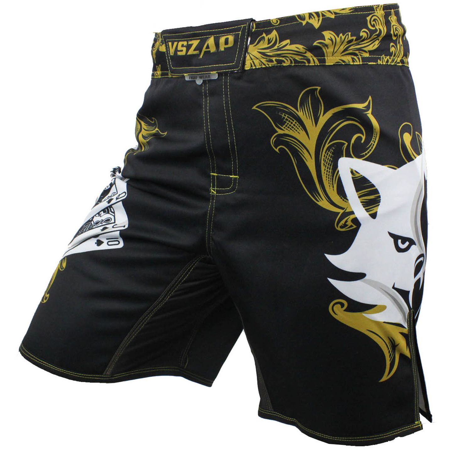 MMA Shorts Kick Muay Thai Shorts Men POKER VSZAP Poker Fighters Fighting Shorts Casual Mma Male Boxeo Kickboxing Stretch Crotch