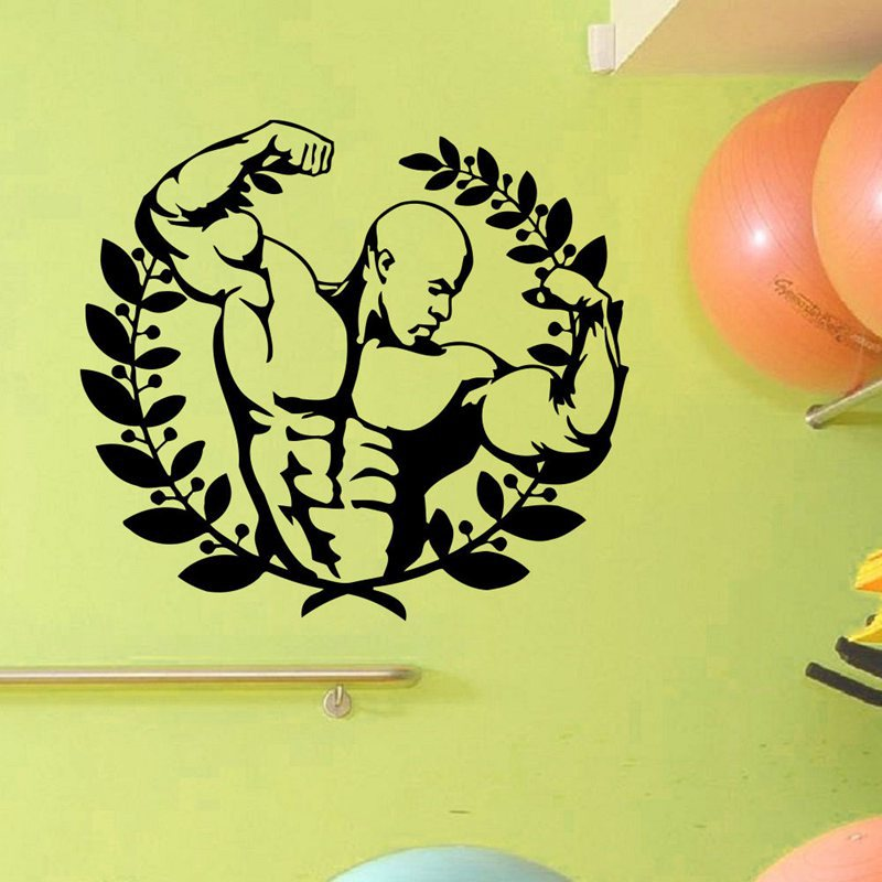 ⑤Pegatina Car Gym Sticker Fitness Decal Body-building Posters Vinyl ...