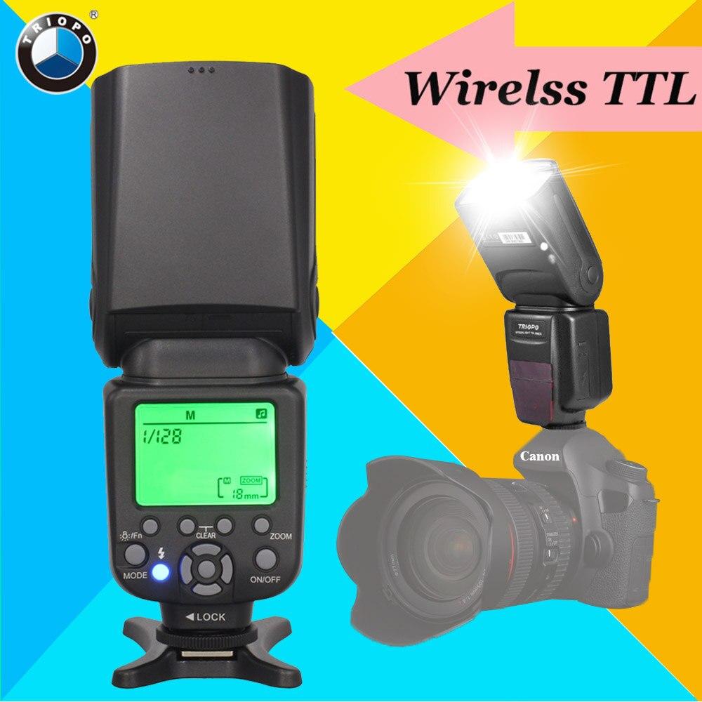 Triopo TR-586EX Wireless TTL Flash Speedlite Speedlight For Canon 6d 650d 60d Camera Vs YONGNUO YN-565EX II YN565EX II YN-560 IV genuine meike mk950 flash speedlite speedlight w 2 0 lcd display for canon dslr 4xaa