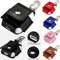 Premium pu leather case bolsa de la cubierta de protección para airpods verdadero auriculares inalámbricos