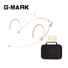 G-MARK Professional Ear Hanging Headset/Headworn Microphone for Shure Wireless Microphone System Skin Color Mini XLR more Plug