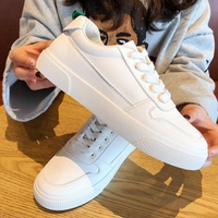 Net red white shoes female 2019 spring new Korean version of the wild casual mountain white shoes harbor wind board shoes tide