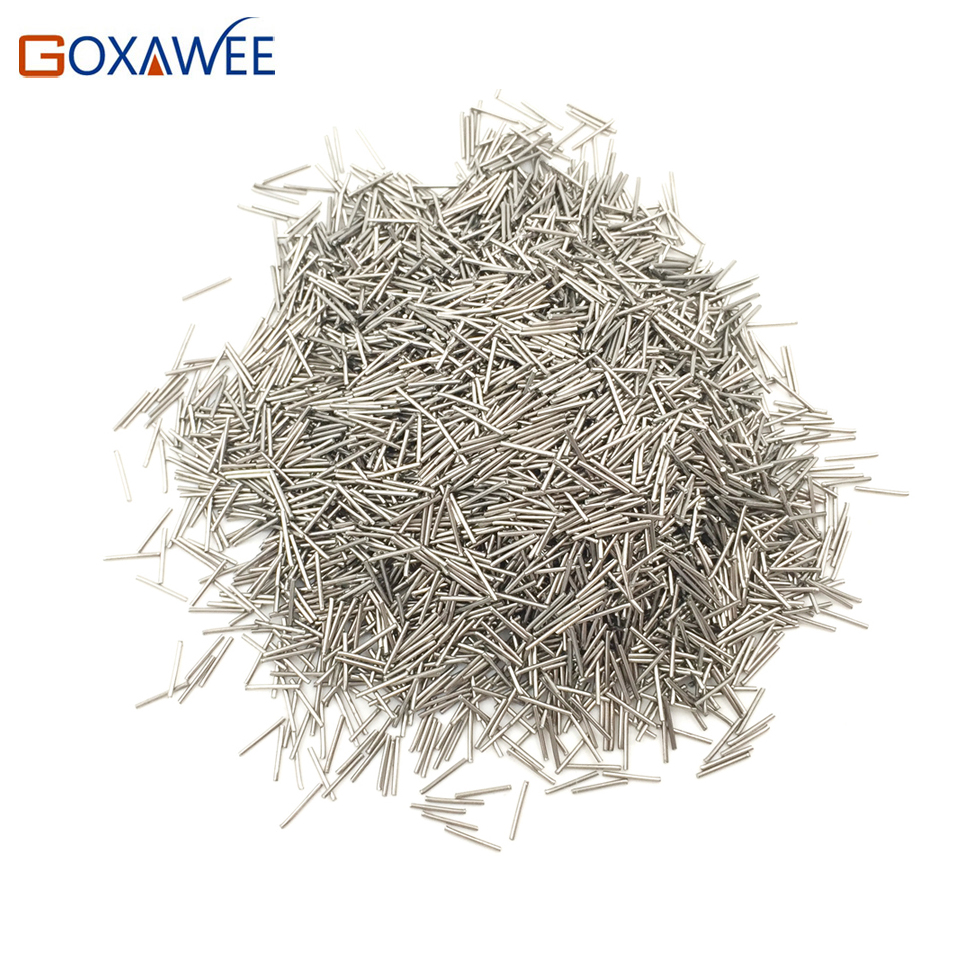 GOXAWEE 200g Magnetic Needles Pins 0.2/0.3/0.4/0.5/0.6mm For Magnetic Tumbler Polishing Media For Jewelry Tools And Equipment