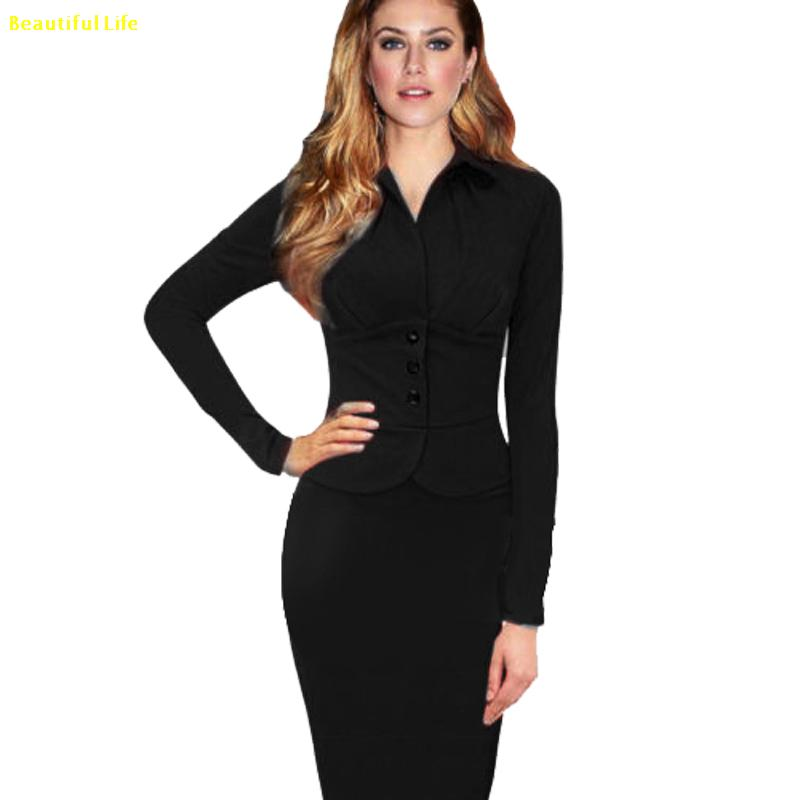 Long Sleeve Work Dresses