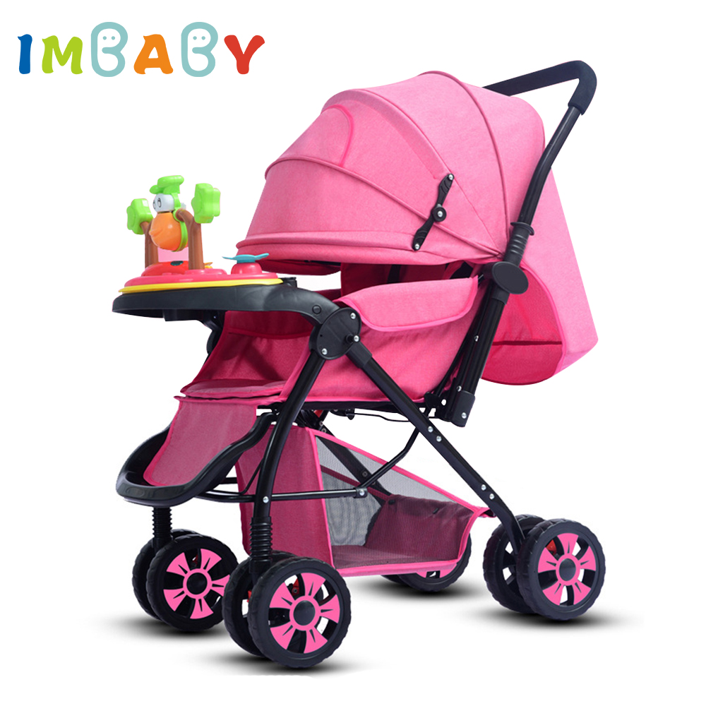 IMBABY Luxury Baby Stroller Carriages High Landscape Baby Prams With Music Player For Newborns Baby Carriages For Children baby stroller 3 in 1 high landscape baby carriages for kids with baby car seat prams for newborns pushchair baby car