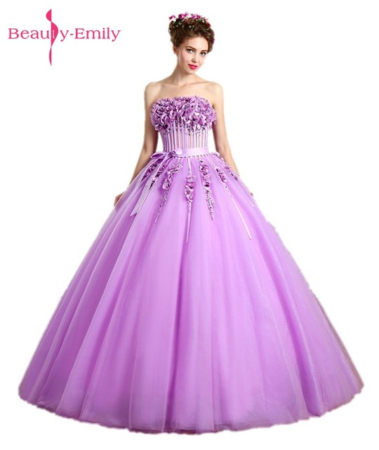 Beauty Emily Long Ball Gown Light Purple Prom Dresses 2017 Homcoming ...