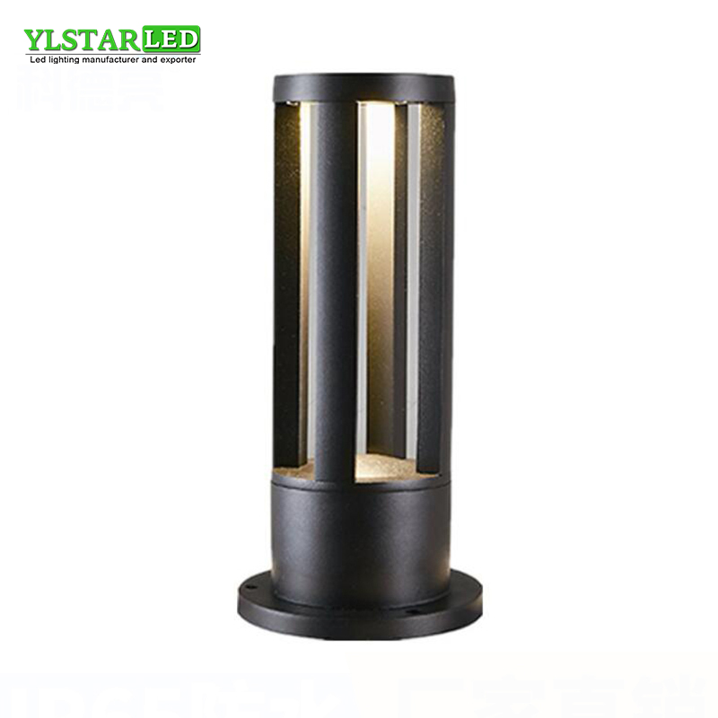 IP65 AC85 265V Led Garden Lawn Light outdoor landscape courtyard cylindrical waterproof lamp Nordic style 7W/10W Warm White