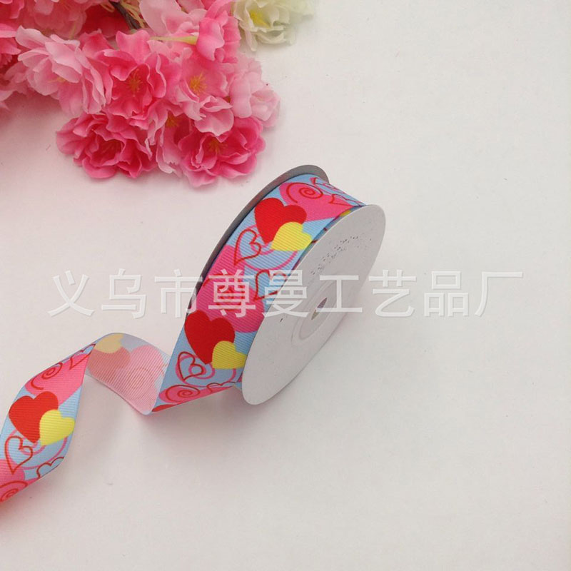 New Ribbon Weave Bandwidth 2 5cm Digital Print Clothing Headwear Accessories Decorative Valentine Day Heart Shape Series Belt in Webbing from Home Garden