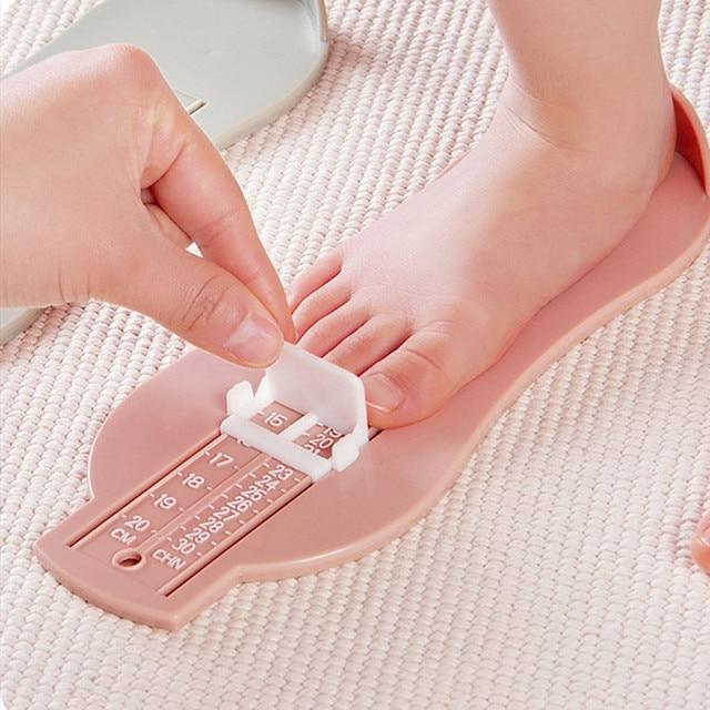 Montessori recién nacido Infantil pie medida zapatos tamaño regla medición herramienta divertida Gadgets aprendizaje educativo regalo de cumpleaños