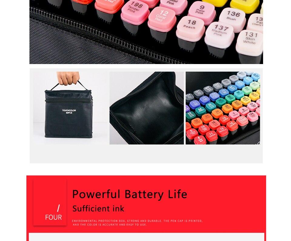 30406080 cores animação álcool arte marcadores definir