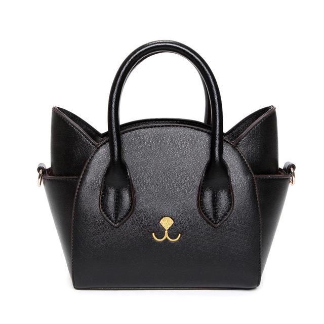 Chic Cat Bags Cute Woman Wing Handbags Fashion PU Messenger Bags
