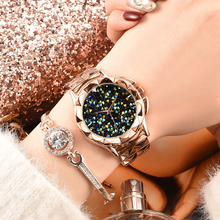 Best Selling Women Buckle Starry Sky Watch Casual Luxury Geometric Surface Quartz Watches