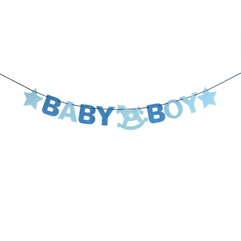 1Set Fabric Pink Blue Baby Shower Garland Bunting Banner Boy Girl Baby Baptism Children Kid Birthday Party Decorative Supplies in Banners Streamers Confetti from Home Garden