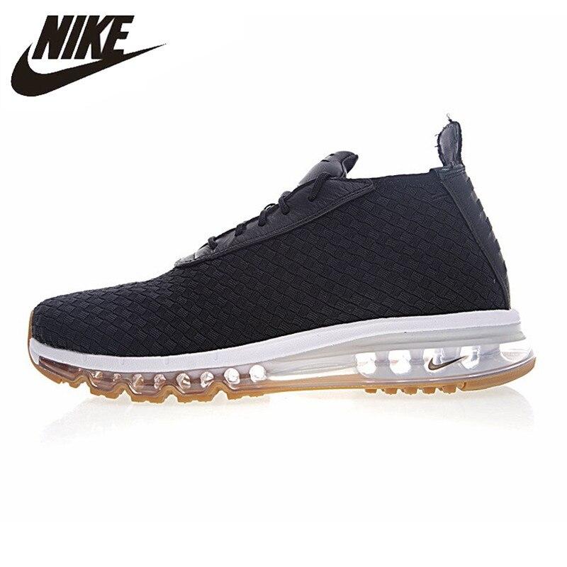 NIKE AIR MAX bottes tissées chaussures de course pour hommes, noir/bleu, antidérapant vestimentaire respirant 921854-003 921854-001