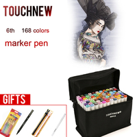 TOUCHNEW 30 40 60 80 168 Colors Markers Pen Painting Manga Art Marker Set Stationery Pen
