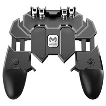 New PUBG Mobile Joystick Controller Turnover Button Gamepad for iOS Android Six 6 Finger Free Fire