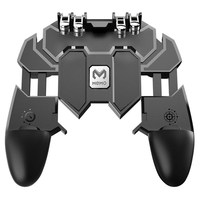 New PUBG Mobile Joystick Controller Turnover Button Gamepad for PUBG iOS Android Six 6 Finger Gamepad Free Fire PUBG Controller