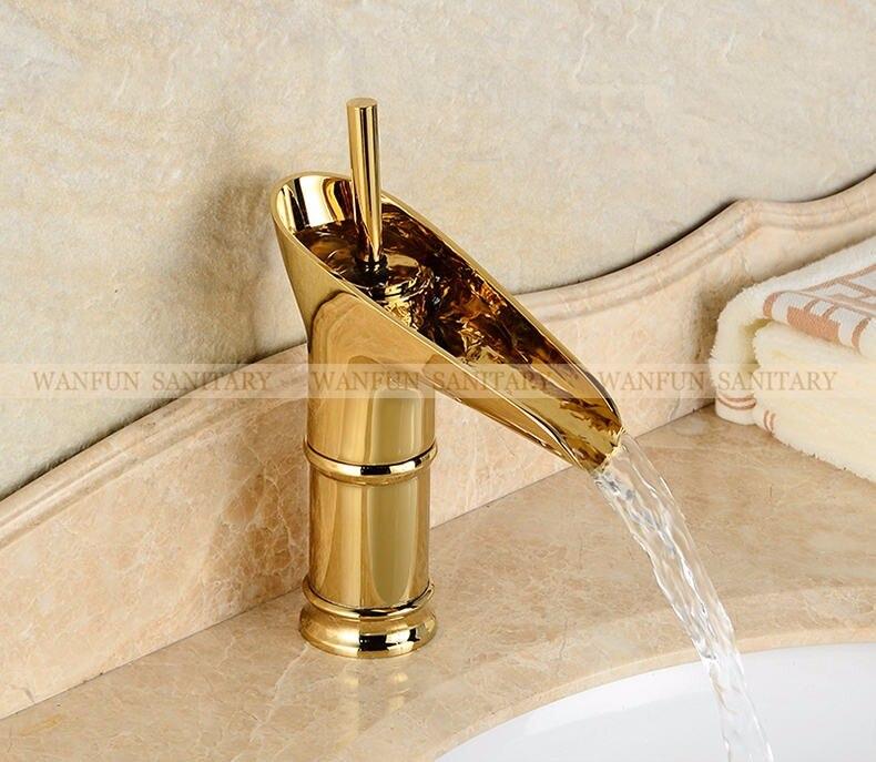 banheiro torneira ouro banho guindaste 6088