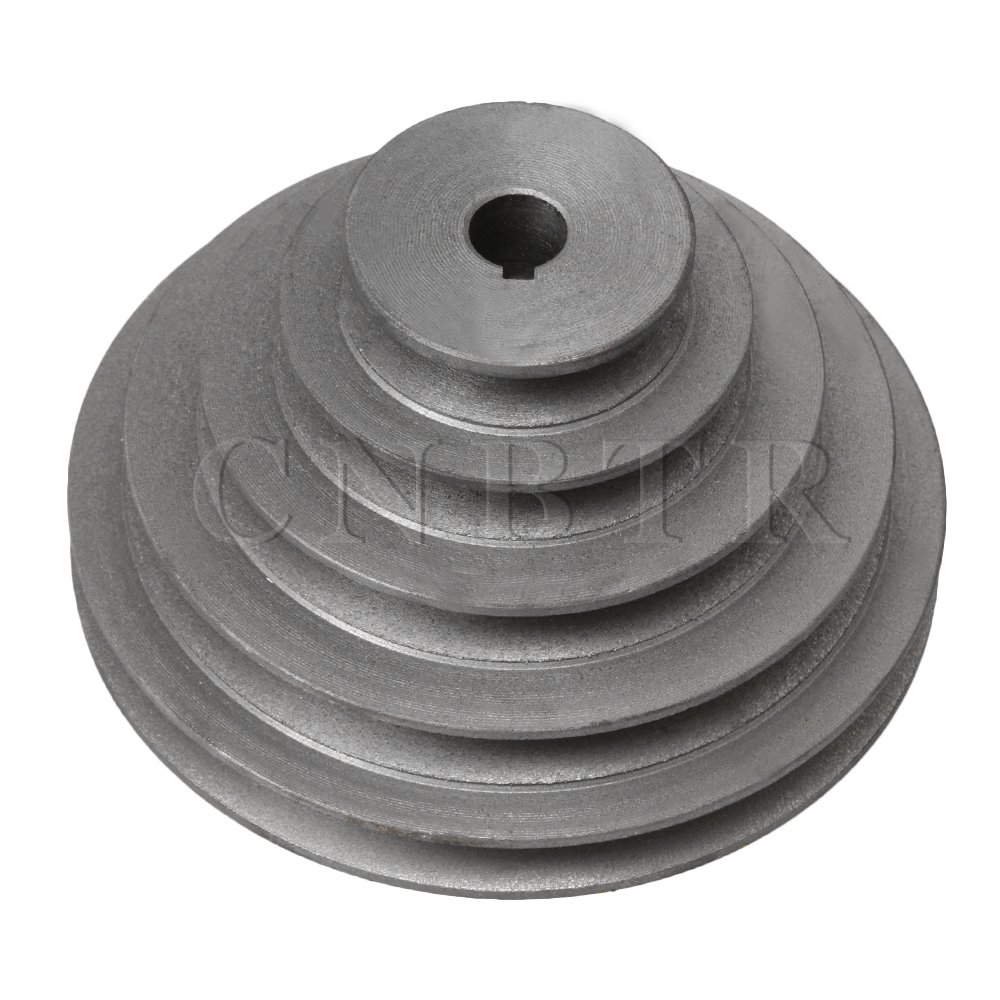 16mm Bore 5 Step A Type V-Belt Pagoda Pulley Belt Outter Dia 54-150mm