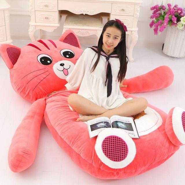 Dorimytrader Giant Cartoon Sleeping Bag Soft Plush Animals Beanbag Frog Bear Monkey Cat Bed Carpet Tatami Sofa Mat DY60497 5
