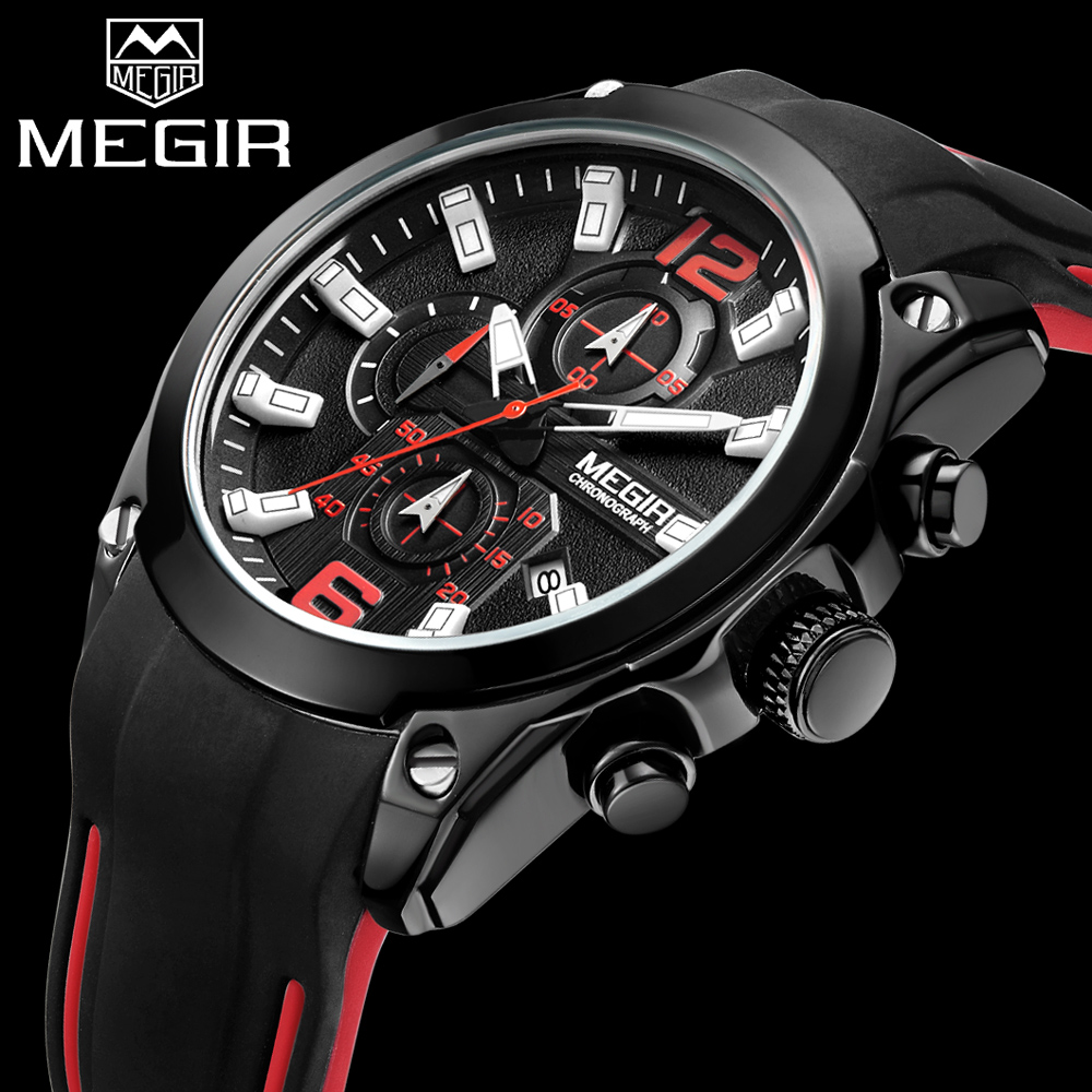 MEGIR Top Brand Luxury Men Quartz Watches Mens Casual Sport Watch Male Multifunction Waterproof Wristwatch Relogio