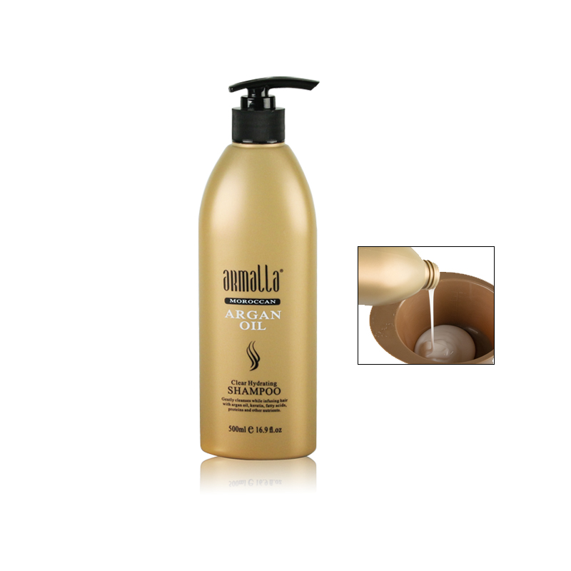 3pcs Treatment Damaged Dry Armalla 500ml Profissional Natural Shampoo and 500ml Deep Conditioner+500ml Argan Oil Hair Mask50