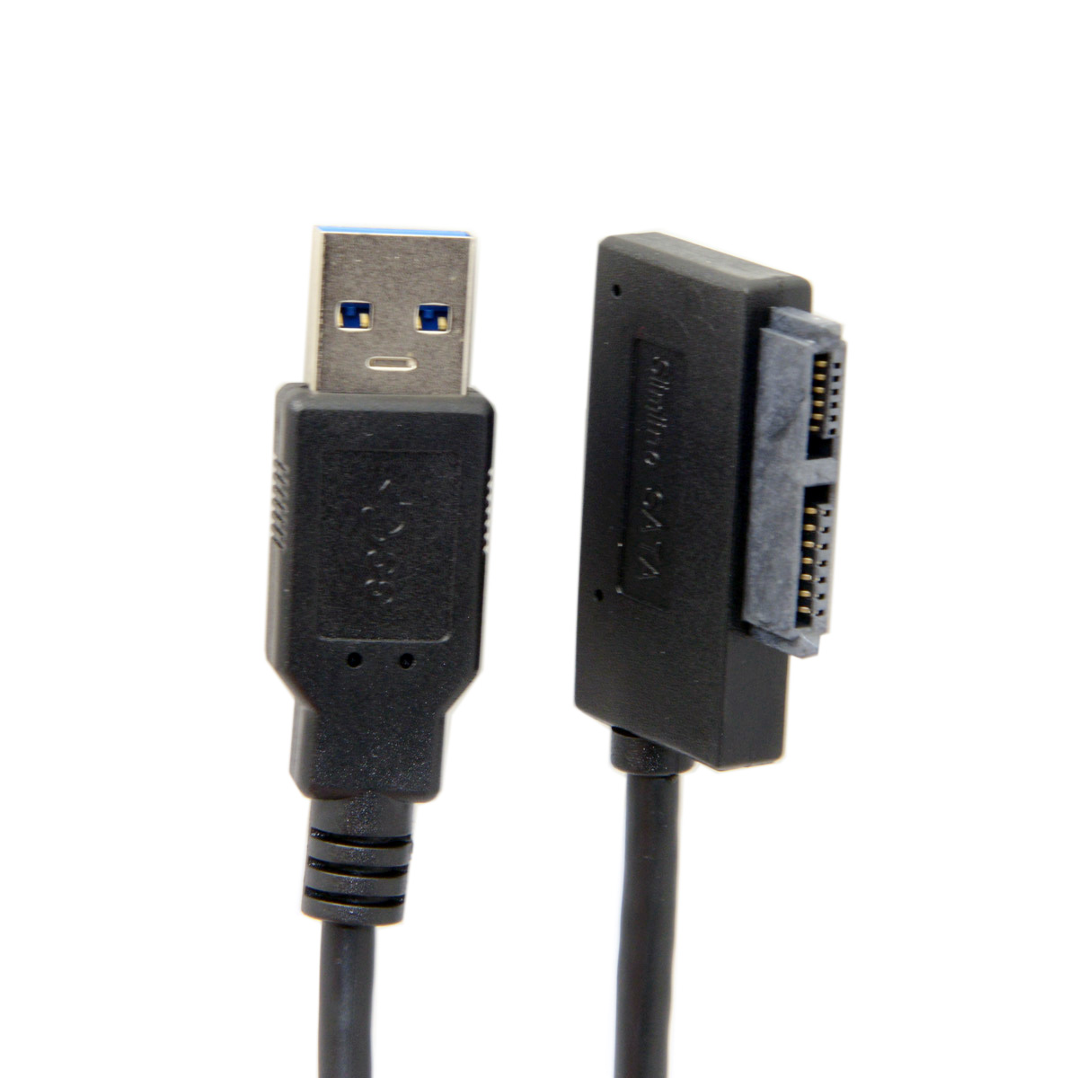 10pcs/lot  USB 3.0 to 7+6 13pin Slimline Sata Adapter Cable for Laptop Cd DVD Rom Optical Drive