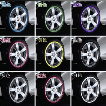8M Car Hub Trim Decoration Anti-Collision Strip Wheel Rim Protector Ring Wheel Tire Edge Changer Guard Styling stickers image