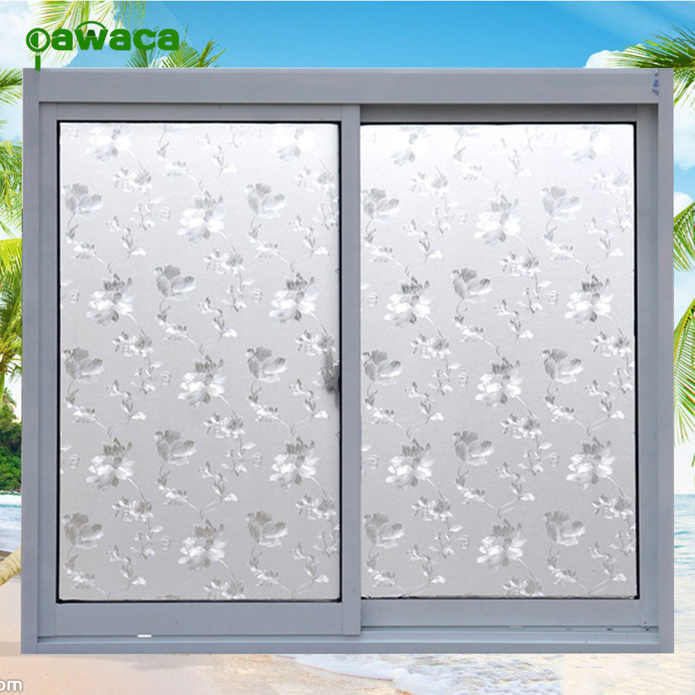 static 3d free glue window flower paper insulation sunscreen bathroom window stickers. Black Bedroom Furniture Sets. Home Design Ideas