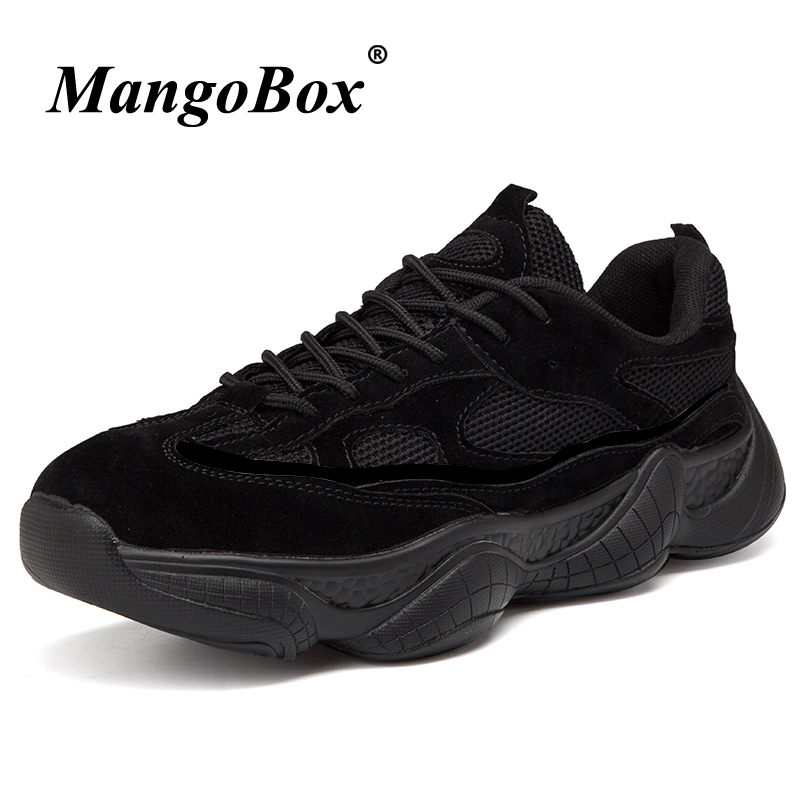 2018 Sports Shoes for Male Black Beige Man Tracking Shoes Anti-slip Sneakers Male Rubber Bottom Lace Up Athletic Footwear Man