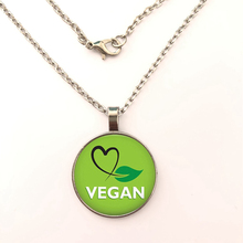 2019 Vegan diet Glass Cabochon The necklace vegetarian diet go organic Jewelry Multilayers Charms The necklace for Womens Mens the reverse diet