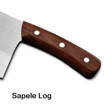 Couteau à Découper Acier Chinois Couteaux De Cuisine Cuisinier Outil De Coupe Légume Poulet Poisson Os Cutter Couteau Lame De Cuisine Manche En Bois