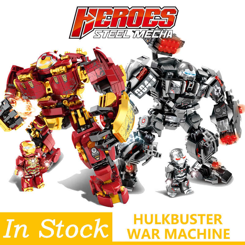 Legoings Marvel Iron man Hulkbuster War Machine Building Blocks  Super Heroes Avengers Infinity War Children Kids Toys Gifts