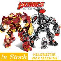 Legoings Marvel Iron man Hulkbuster guerre Machine blocs de construction Super héros Avengers Infinity War enfants enfants jouets cadeaux