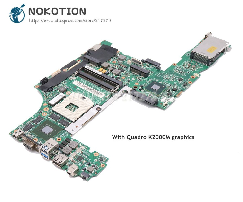 NOKOTION For Lenovo Thinkpad W530 Laptop Motherboard 48.4QE12.031 04X1527 Main Board Quadro K2000M SLJ8A DDR3