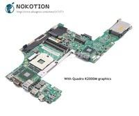 NOKOTION For lenovo thinkpad W530 Laptop Motherboard 48.4QE12.031 04X1527 Main Board Quadro K2000M SLJ8A DDR3