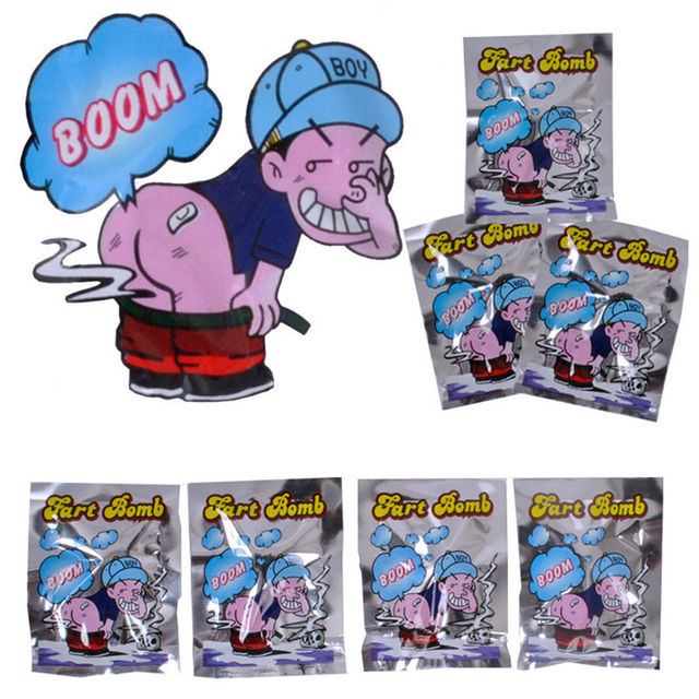 10 pçs/set Engraçado Peido Fedorento Bomba Bags Stink Bomba Engraçado Mordaças câmera escondida Tolo Brinquedo Tricky April fool Day brinquedos