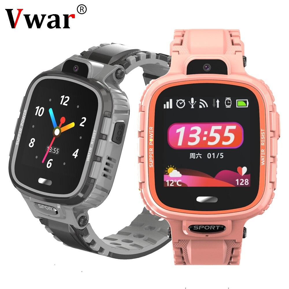 2019 vwar k90 crianças gps wifi relógio inteligente ip67 à prova dip67 água câmera telefone relógios crianças esporte do bebê smartwatch anti-perdido vs q90 q50
