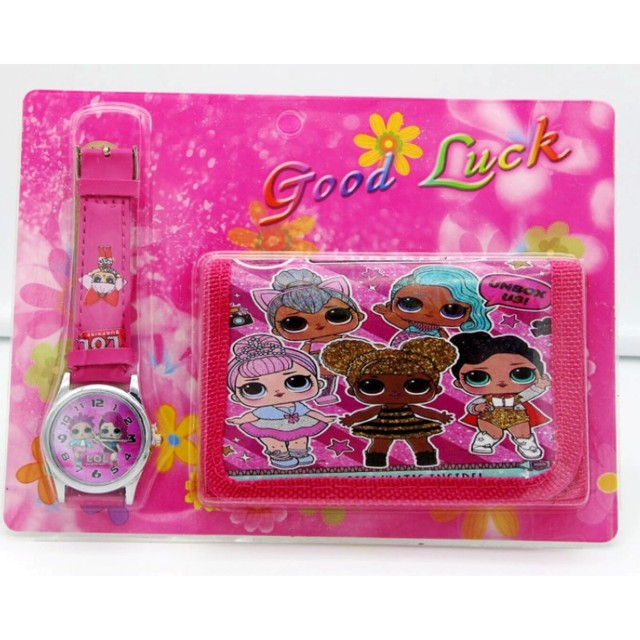 Hot sale! New Lot Lovely little girl sets cartoon kids part Set watch kids Wrist